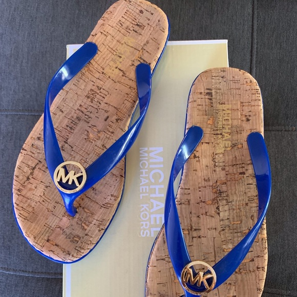 Michael Kors Other - Sz7 michael kors sandals....blue,good condition